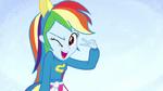 Rainbow Dash winking on splash screen EG