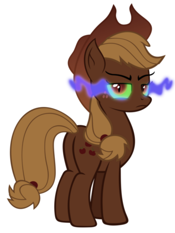 File:Applejack infected by dark magic by artist-tzolkine.png