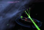 Bajor fighting Orions over Dreon VII