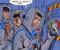Scott, Spock and McCoy on Starbase 14