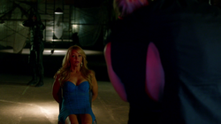 The Arrow watches as Cooper Seldon takes Felicity hostage