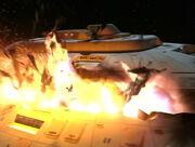Voyager deck 5 explodes