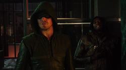 Oliver talks Laurel out of killing Simon Lacroix