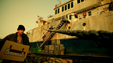 Oliver boards a ship for Coast City