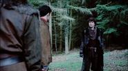 Mordred walks up to Merlin