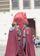 Bradley James Colin Morgan and Alexander Vlahos Behind The Scenes Series 5-3