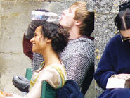 Bradley James Angel Coulby and Katie McGrath Behind The Scenes Series 3
