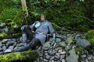 Arthur on pebbles