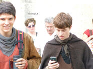 Colin Morgan and Alfie Stewart Behind The Scenes Series 5-1