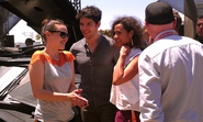 Katie McGrath Colin Morgan and Angel Coulby Comic Con 2012