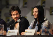 Santiago Cabrera and Katie McGrath Comic Con 2011