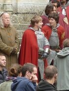 Richard Wilson Bradley James and Alexander Vlahos Behind The Scenes Series 5