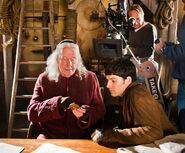 Richard Wilson and Colin Morgan Behind The Scenes Series 5