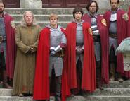 Richard Wilson Bradley James and Alexander Vlahos Behind The Scenes Series 5