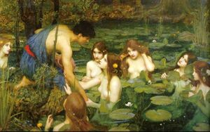 John William Waterhouse Hylas-and-the-Nymphs--1896