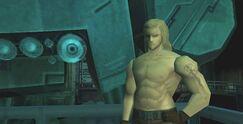 MGS1 Liquid Snake and Metal Gear REX