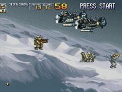 Flying Tara snow attack