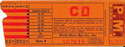 North Shore Bus transfer 1939