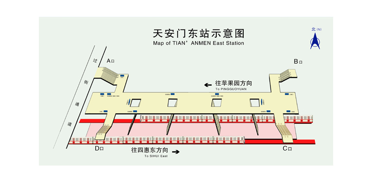 Tian'anmen East BJ map