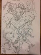Steven Butler Metroid artwork 2
