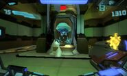 A Metroid in a containment capsule