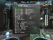 MP3 game menu