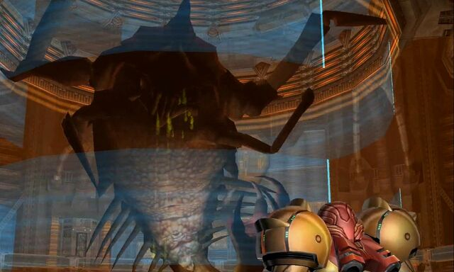 File:Samus encounters Parasite Queen Dolphin HD.jpg