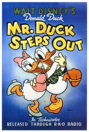 Mr duck steps out poster