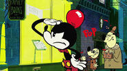 Mickeys balloon ear popped