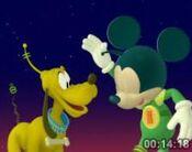 Martain Mickey and Pluto