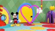 Mickey with a giant heart