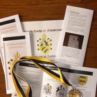Letter of nobilty & medal
