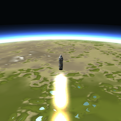 Third stage separated, fourth and final rocket fires