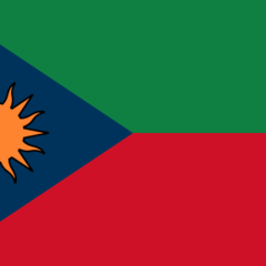 The flag of the Democratic Republic of Nedland, used from November 15, 2014 to December 2014.