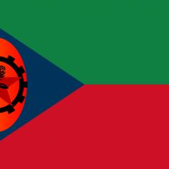 Flag of the Nedlandic Autonomous Republic, the republic which covers the ethnic region of Nedland.
