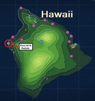 Kona Intl At Keahole Map