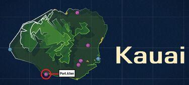 Port Allen Airport Map