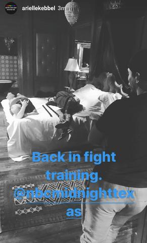 File:BTS Arielle Kebbel back in fight training.png