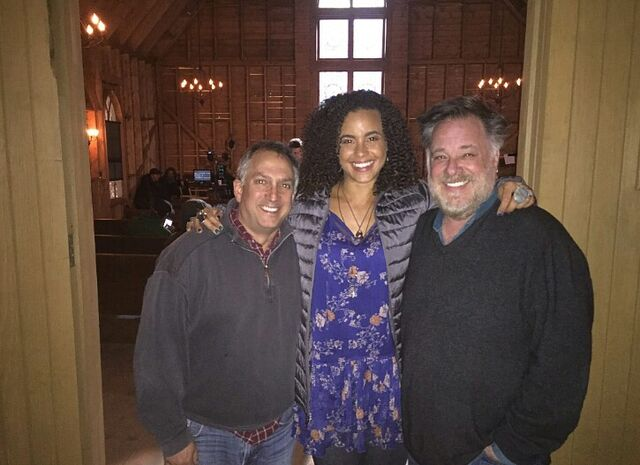 File:BTS Parisa Fitz-Henley and Al Septien in church.JPG