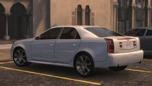 MCLA Cadillac CTS-V Traffic Car Rear