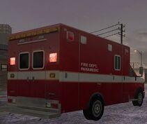 MC2 Ford E-350 Ambulance Rear