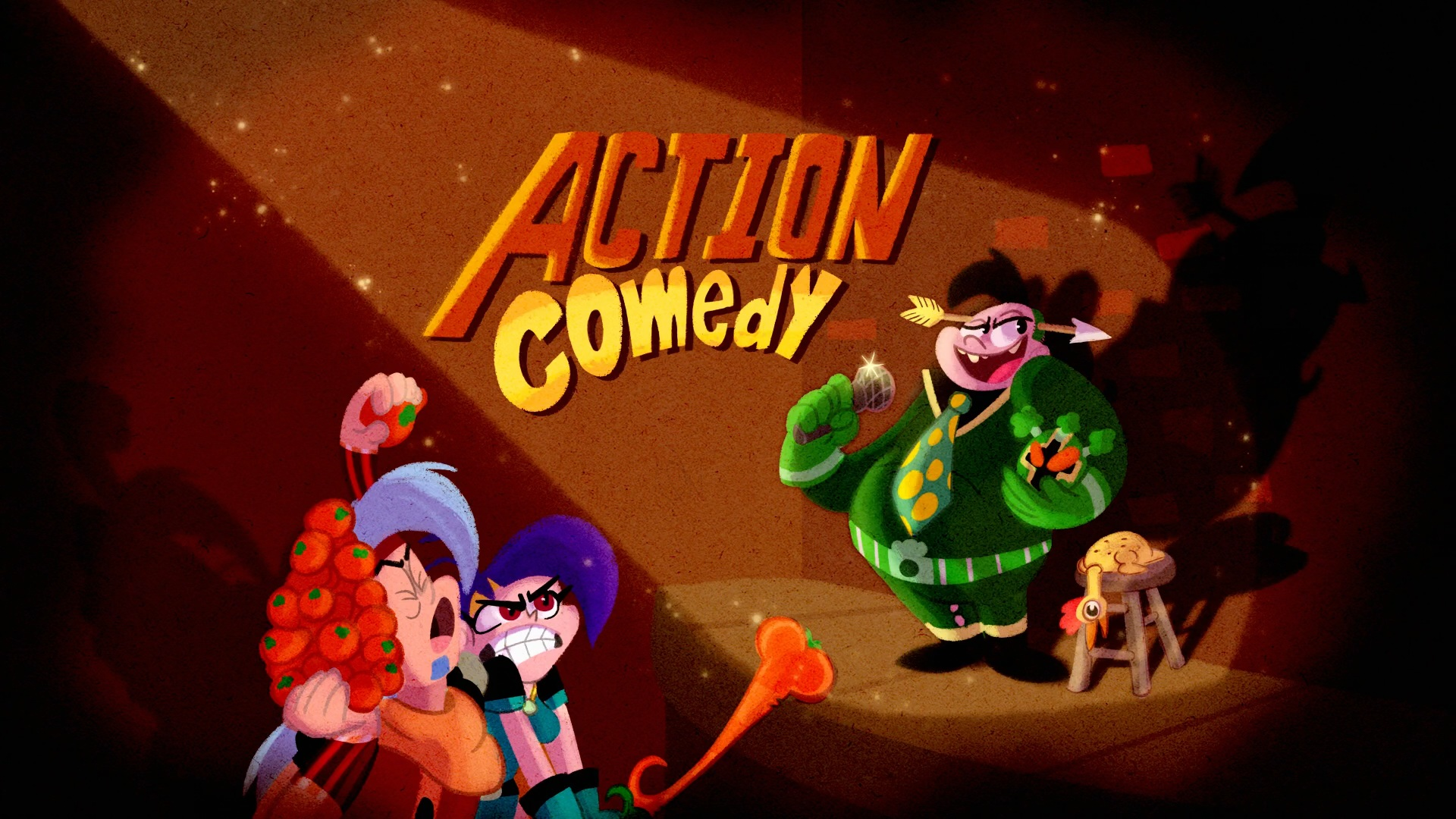 Action Comedy Title Card