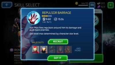 Repulsor Barrage
