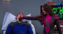 Skylar using the serum on blue torndo