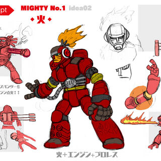 Concept art for a wrestler inspired version of the character.