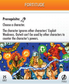 Merchandise-heroclix-card fortitude