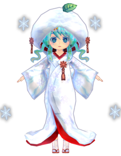 Miku Low Poly Snow 2013 by Ginjishi
