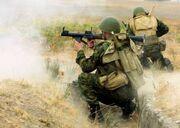 Tajik russian troops in action