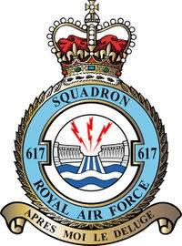 Dambusters 617 squadron royal air force badge