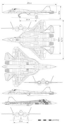 316px-PAK-FA diagram